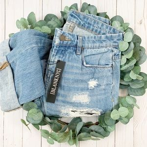 {Blank NYC} Galaxy Distressed Straight Leg Jeans